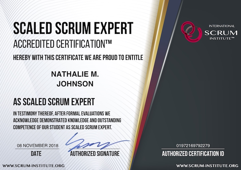 What is USD 149 Scaled Scrum Expert Accredited Certification