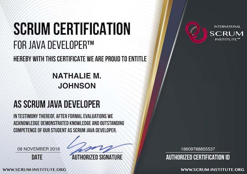 What Is Usd 29 Scrum Certification For Java Developer Program