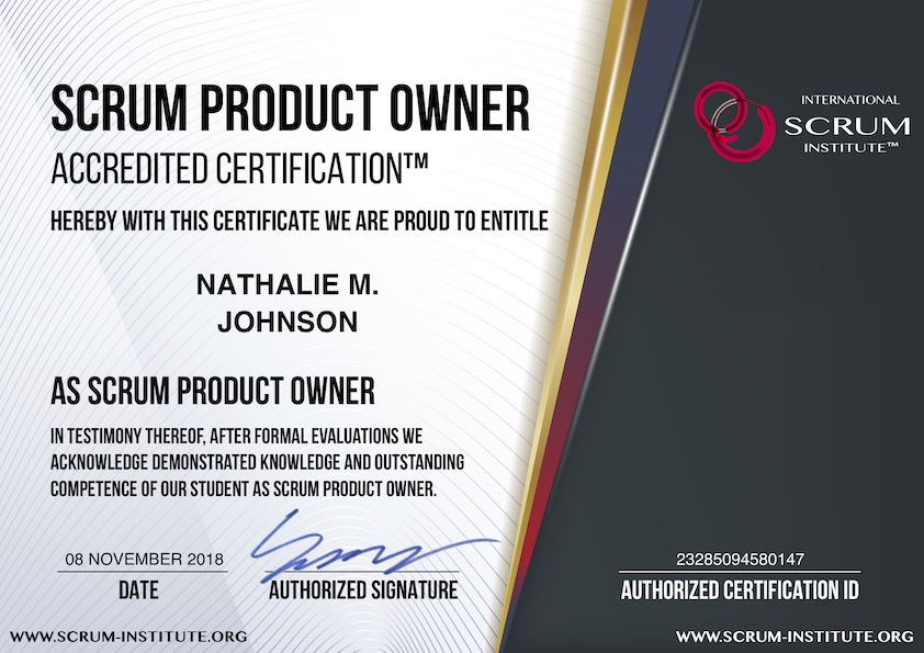 what is usd 99 scrum product owner accredited certification program