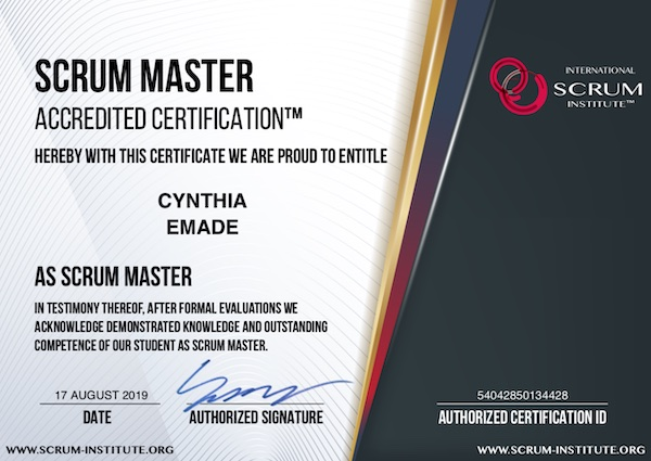 International Scrum Institute™ Scrum Master Certification